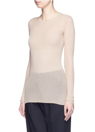 Front View - Click To Enlarge - Isabel Marant - Semi sheer cotton blend sweater