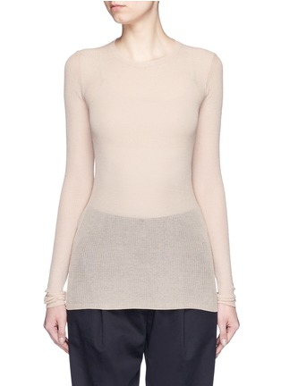 Main View - Click To Enlarge - Isabel Marant - Semi sheer cotton blend sweater