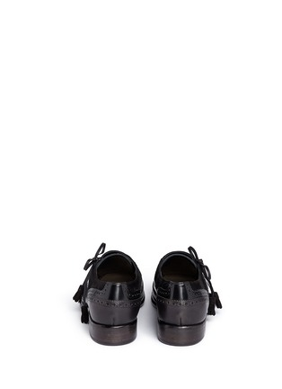 Back View - Click To Enlarge - Dolce & Gabbana - 'Taormina' side lace-up brogue leather slip-ons