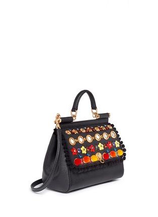 Figure View - Click To Enlarge - Dolce & Gabbana - 'Miss Sicily' medium mix cartwheel appliqué leather satchel
