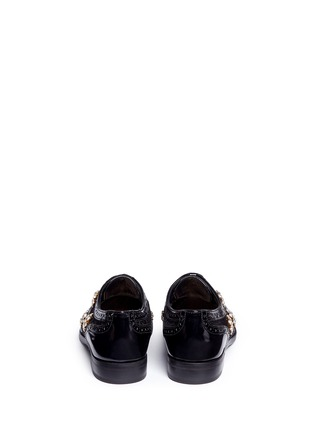 Back View - Click To Enlarge - Dolce & Gabbana - 'Boy' jewelled daisy jacquard leather brogues