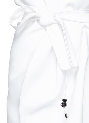 Detail View - Click To Enlarge - Maticevski - 'Coded' tie waist sleeveless dress