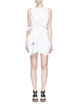 Main View - Click To Enlarge - Maticevski - 'Coded' tie waist sleeveless dress