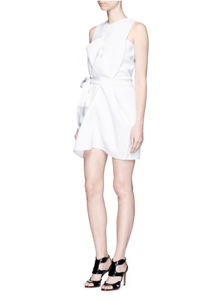 Figure View - Click To Enlarge - Maticevski - 'Coded' tie waist sleeveless dress
