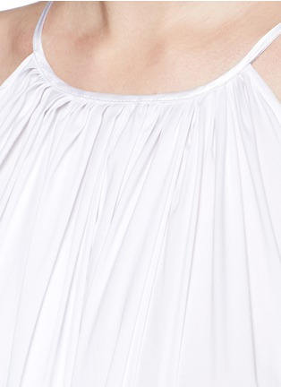 Detail View - Click To Enlarge - Maticevski - 'Tonalist' ruffle poplin halterneck dress