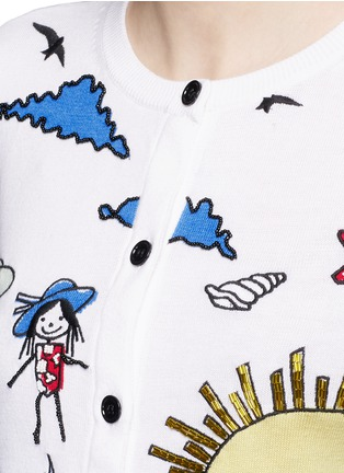 Detail View - Click To Enlarge - alice + olivia - 'Stacey Doodle Fun In The Sun' bead embroidery cardigan