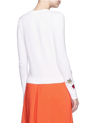Back View - Click To Enlarge - alice + olivia - 'Stacey Doodle Fun In The Sun' bead embroidery cardigan