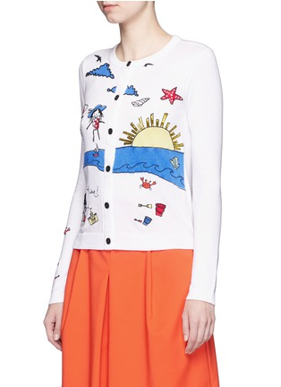 Front View - Click To Enlarge - alice + olivia - 'Stacey Doodle Fun In The Sun' bead embroidery cardigan