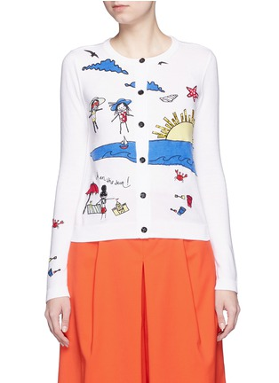 Main View - Click To Enlarge - alice + olivia - 'Stacey Doodle Fun In The Sun' bead embroidery cardigan