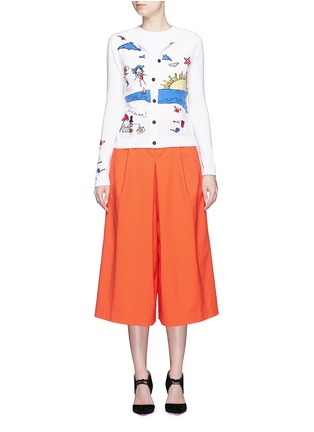 Figure View - Click To Enlarge - alice + olivia - 'Stacey Doodle Fun In The Sun' bead embroidery cardigan