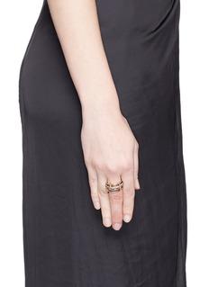 Spinelli Kilcollin 'Scorpio' diamond 18k rose gold silver four link ring