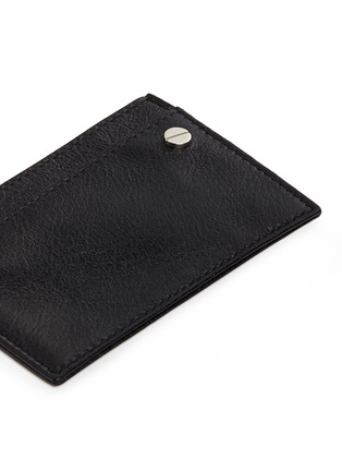 Detail View - Click To Enlarge - Balenciaga - 'Arena' leather cardholder