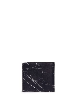 Back View - Click To Enlarge - Balenciaga - 'Phileas' marble print leather bifold wallet
