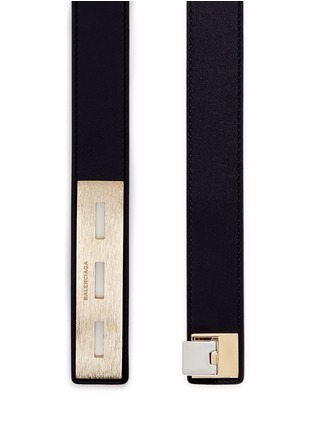 Detail View - Click To Enlarge - Balenciaga - Textured plate leather belt