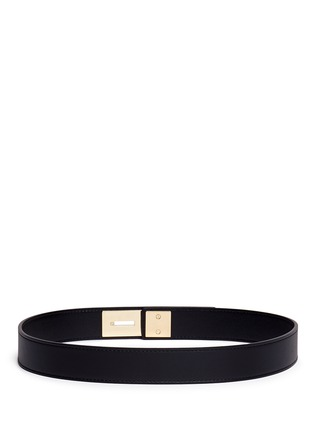 Back View - Click To Enlarge - Balenciaga - Textured plate leather belt