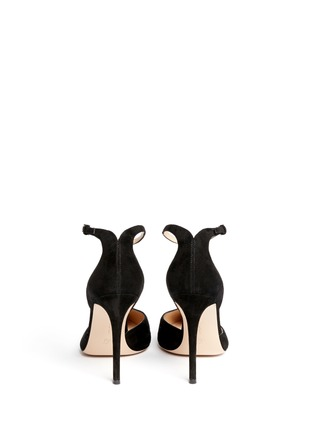 Back View - Click To Enlarge - Gianvito Rossi - 'Romy' T-bar suede pumps