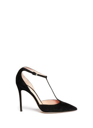 Main View - Click To Enlarge - Gianvito Rossi - 'Romy' T-bar suede pumps