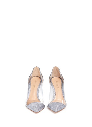 Front View - Click To Enlarge - Gianvito Rossi - 'Plexi' clear PVC glitter pumps