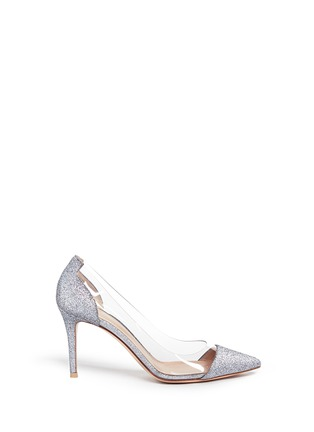Main View - Click To Enlarge - Gianvito Rossi - 'Plexi' clear PVC glitter pumps