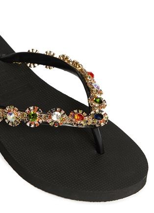 Detail View - Click To Enlarge - Uzurii - 'Diana' crystal flower flip flops