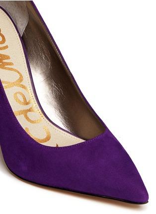 Detail View - Click To Enlarge - SAM EDELMAN - Dea' leather trim suede pumps