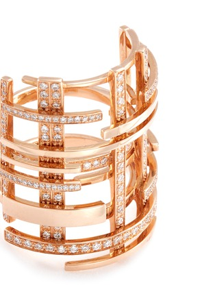 Detail View - Click To Enlarge - Dauphin - Diamond 18k rose gold lattice ring