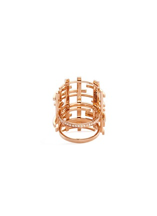 Figure View - Click To Enlarge - Dauphin - Diamond 18k rose gold lattice ring
