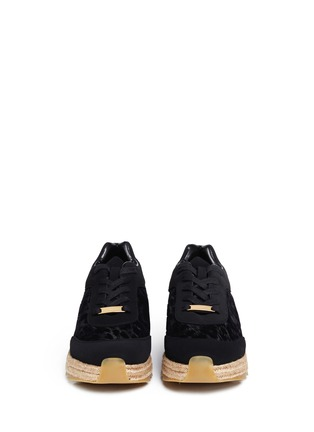 Figure View - Click To Enlarge - Stella McCartney - Velvet flock espadrille sneakers