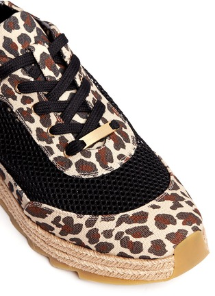 Detail View - Click To Enlarge - 10899 - Leopard print mesh espadrille sneakers