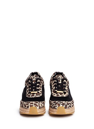 Figure View - Click To Enlarge - 10899 - Leopard print mesh espadrille sneakers