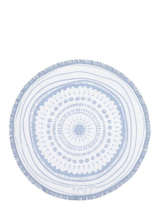 Detail View - Click To Enlarge - The Beach People - 'The Wategos' fringed roundie towel