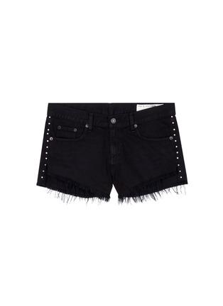 Main View - Click To Enlarge - RAG & BONE/JEAN - 'Cut Off' stud denim shorts
