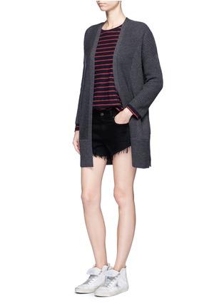 Figure View - Click To Enlarge - RAG & BONE/JEAN - 'Cut Off' stud denim shorts