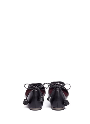 Back View - Click To Enlarge - Coach - 'Johnson' leather lace-up d'Orsay flats