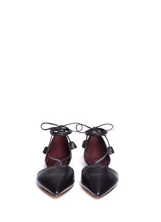 Front View - Click To Enlarge - Coach - 'Johnson' leather lace-up d'Orsay flats