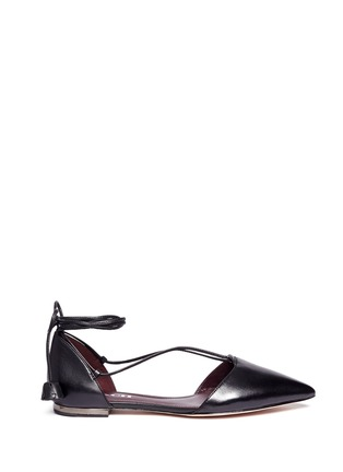 Main View - Click To Enlarge - Coach - 'Johnson' leather lace-up d'Orsay flats