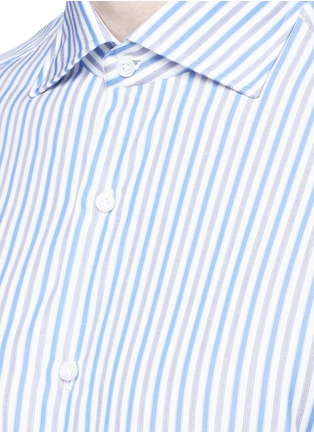 Detail View - Click To Enlarge - ISAIA - 'Milano' stripe cotton shirt