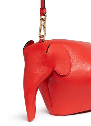 Detail View - Click To Enlarge - LOEWE - 'Elephant' mini leather shoulder bag