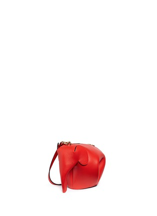 Front View - Click To Enlarge - LOEWE - 'Elephant' mini leather shoulder bag