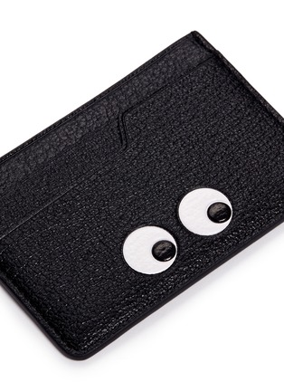 Detail View - Click To Enlarge - Anya Hindmarch - 'Eyes' embossed leather cardholder