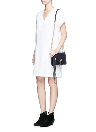 Figure View - Click To Enlarge - REBECCA MINKOFF - 'M.A.C.' mini leather crossbody bag