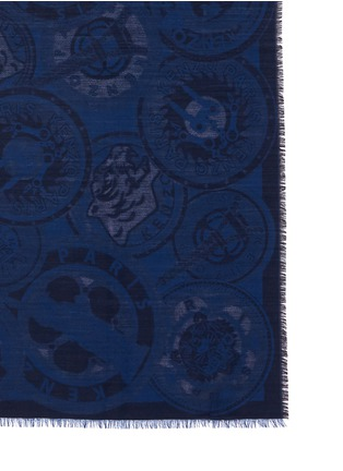 Detail View - Click To Enlarge - KENZO - Medallion jacquard silk-wool scarf