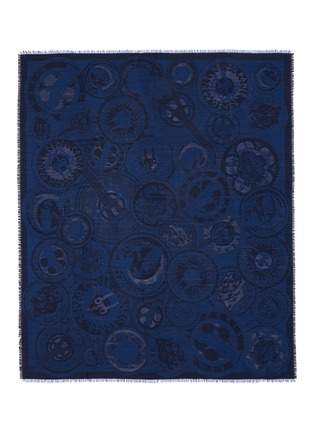Main View - Click To Enlarge - KENZO - Medallion jacquard silk-wool scarf