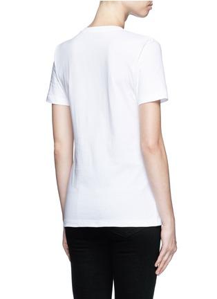 Back View - Click To Enlarge - Etre Cecile  - 'Rouge Bleu Blanc' slogan print T-shirt