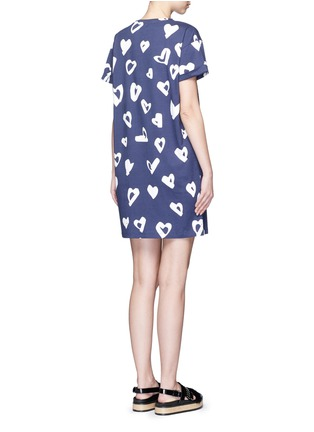Back View - Click To Enlarge - Etre Cecile  - 'Heart' print jersey T-shirt dress