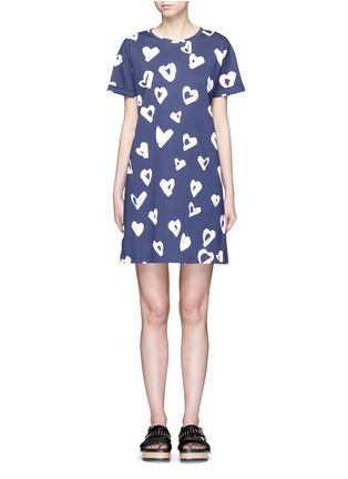 Main View - Click To Enlarge - Etre Cecile  - 'Heart' print jersey T-shirt dress