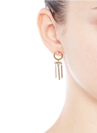 Figure View - Click To Enlarge - Eddie Borgo - 'Sibyl Day Drop' cubic zirconia moon earrings
