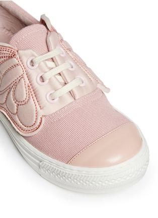 Detail View - Click To Enlarge - Stella Mccartney Kids - 'Juniper' butterfly wing facing kids sneakers