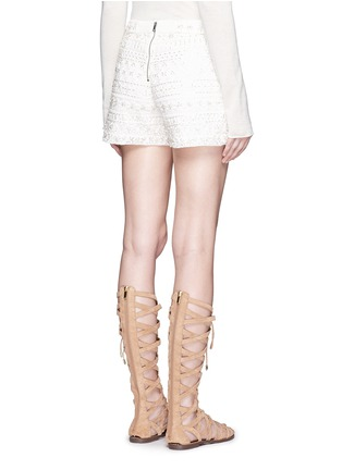 Back View - Click To Enlarge - alice + olivia - Susi' embroidery bead embellished shorts