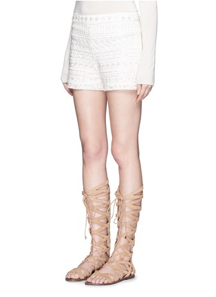 Front View - Click To Enlarge - alice + olivia - Susi' embroidery bead embellished shorts